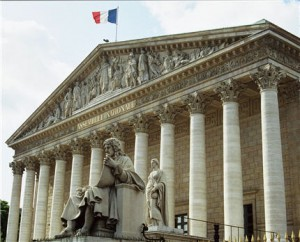 The French 'Assemblée nationale', the most important House of Parliament today